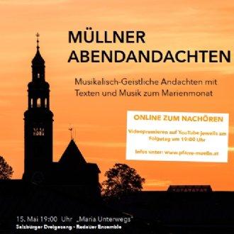 "Plakat ""Müllner Maiandachten 2020"" © Pfarre Mülln"