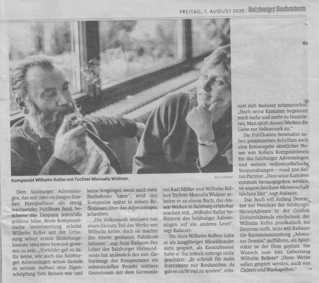 Teil 2 - Artikel Salzburger Nachrichten über Wilhelm Keller © Salzburger Nachrichten/Salzburger HirtenAdvent